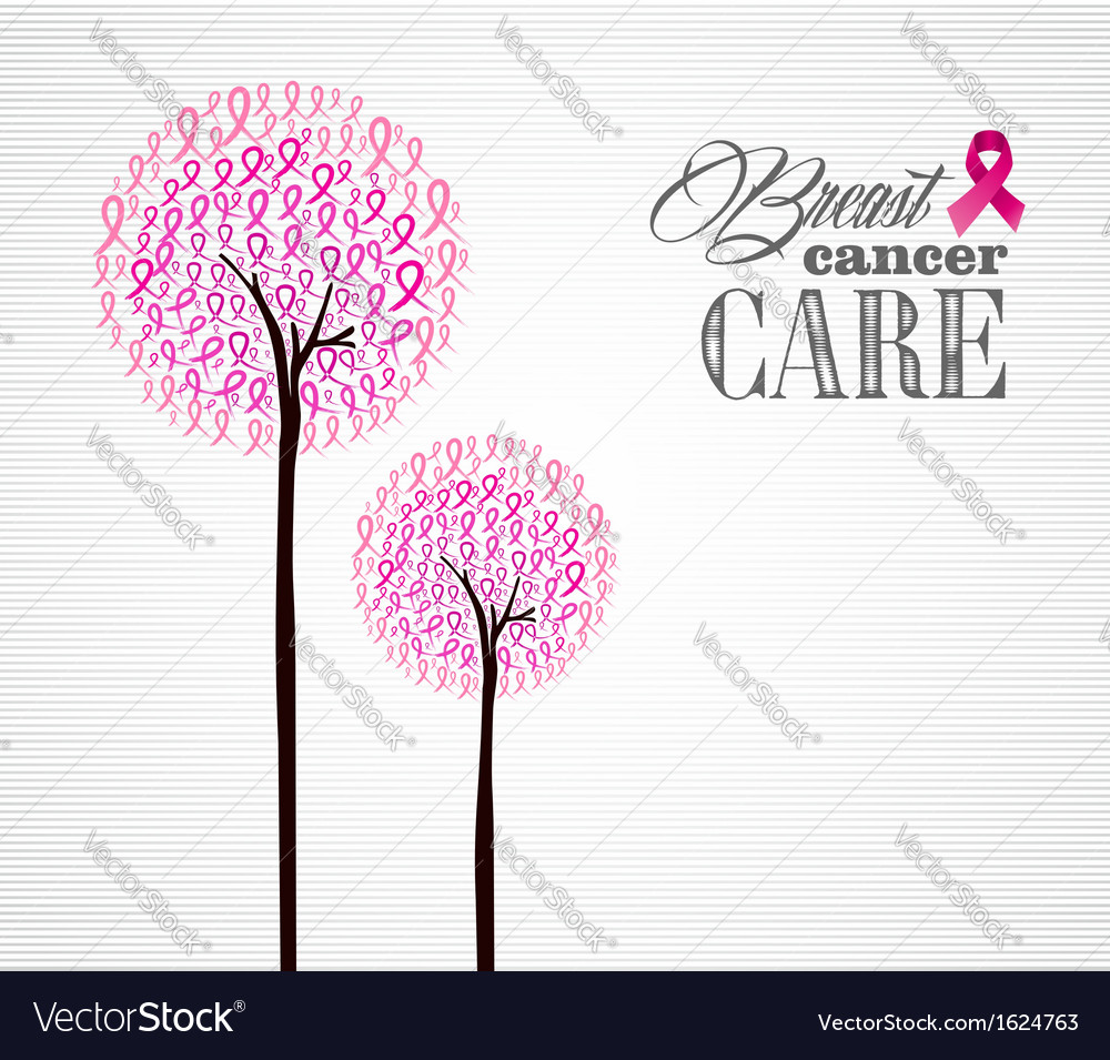 Breast cancer awareness pink ribbons conceptual vector | Price: 1 Credit (USD $1)