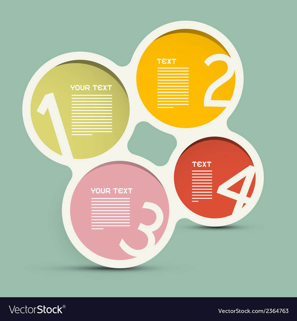 Circle paper infographics layout - template on vector | Price: 1 Credit (USD $1)