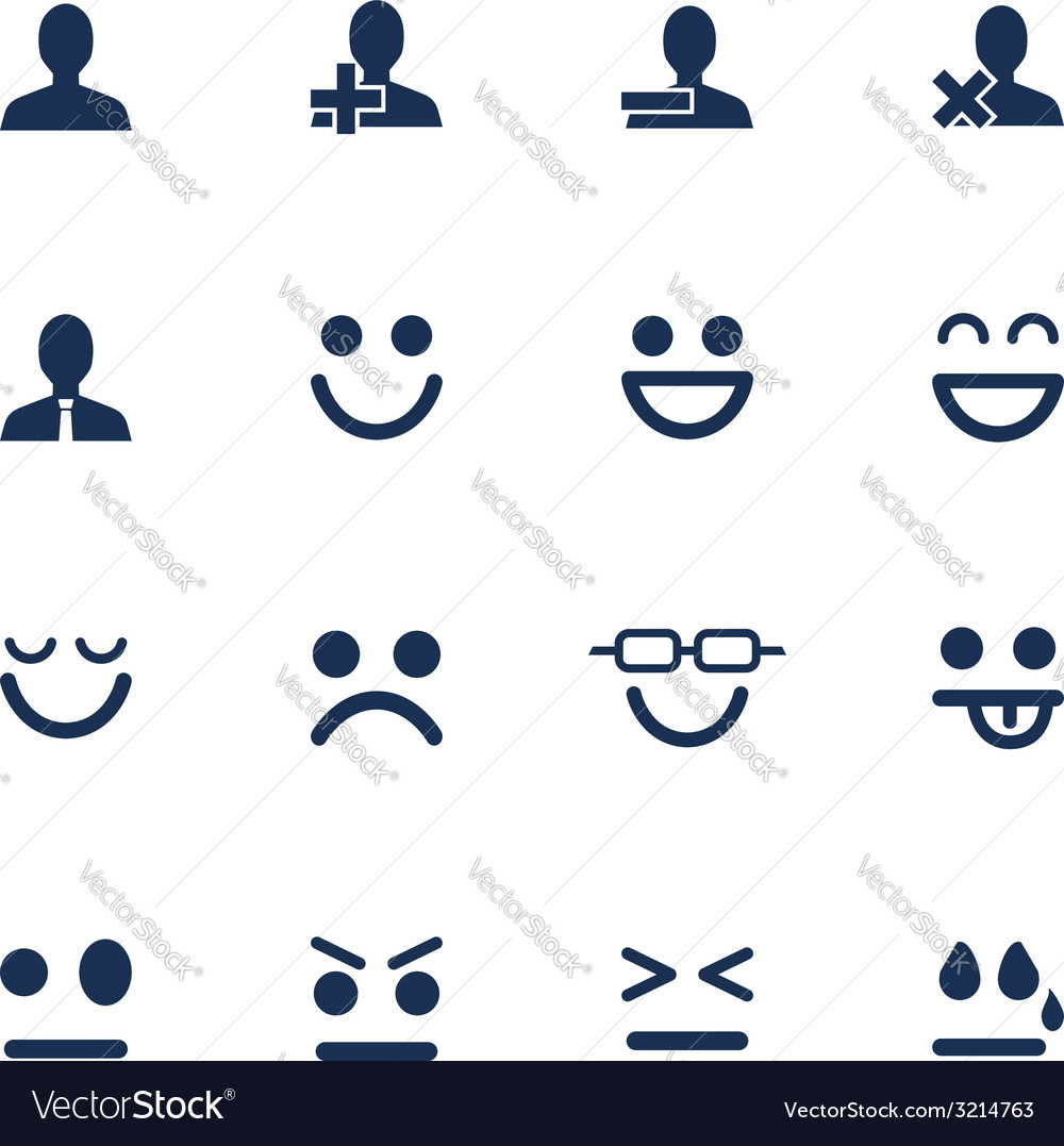 Emotions icons vector | Price: 1 Credit (USD $1)