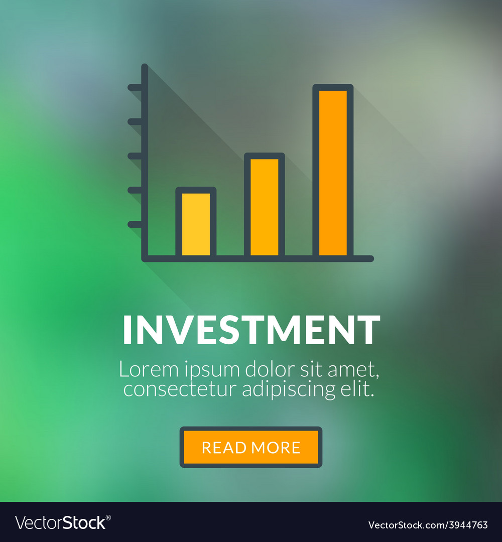 Flat design concept for investment with blu vector | Price: 1 Credit (USD $1)