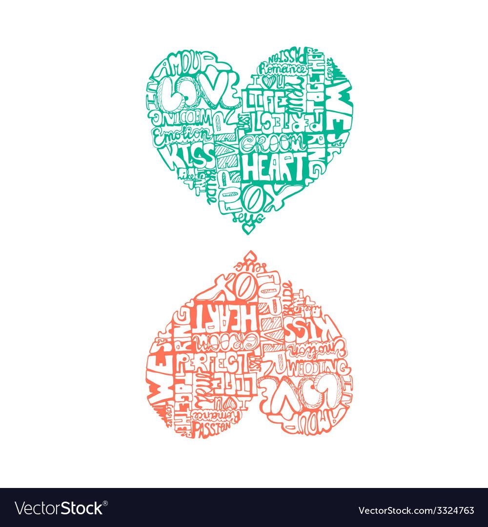 Heartwords4 vector | Price: 1 Credit (USD $1)