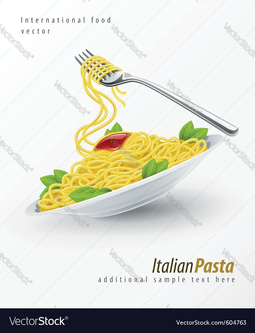 Italian pasta spaghetti vector | Price: 3 Credit (USD $3)