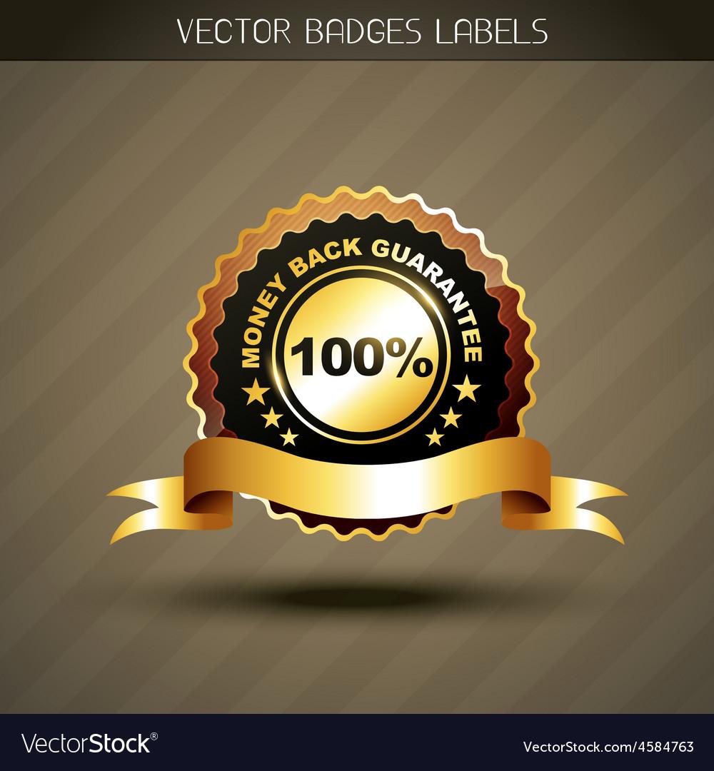 Money back guarantee label vector | Price: 1 Credit (USD $1)