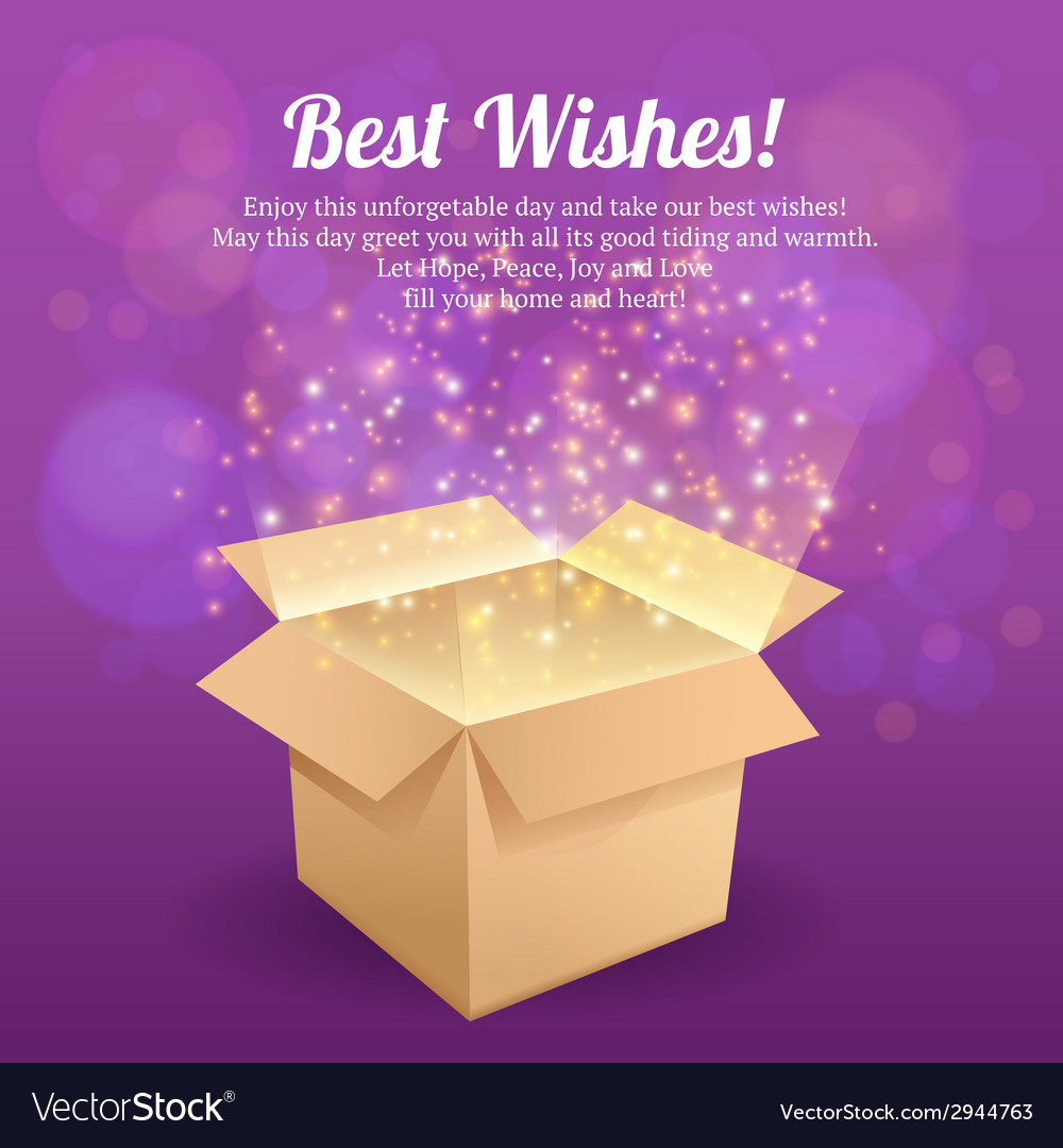 Open box postcard vector | Price: 1 Credit (USD $1)