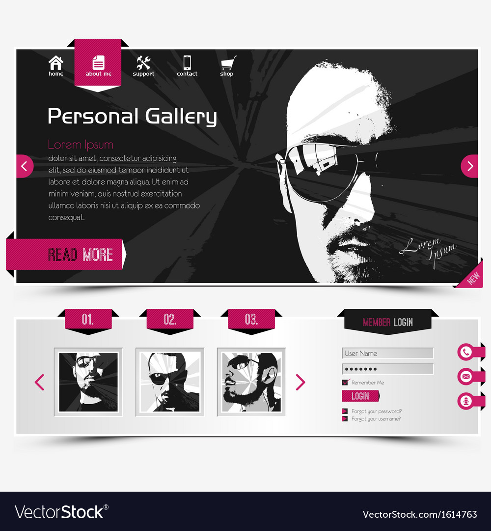 Personal gallery vector | Price: 1 Credit (USD $1)