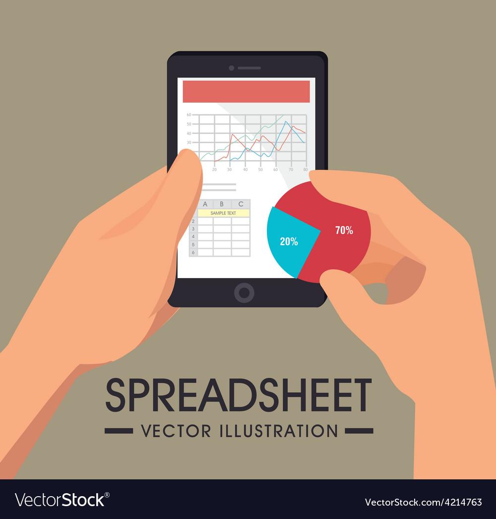 Spreadsheet design vector | Price: 1 Credit (USD $1)