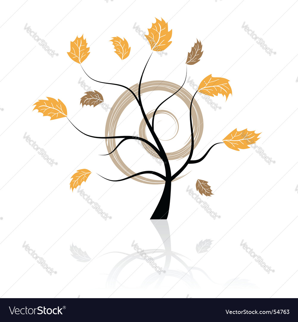 Tree with leaves vector | Price: 1 Credit (USD $1)