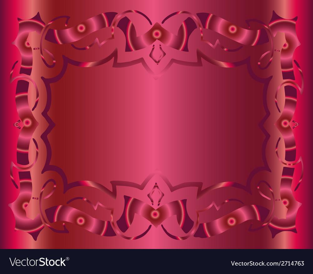 Vintage royal background dark pink floral luxury o vector | Price: 1 Credit (USD $1)