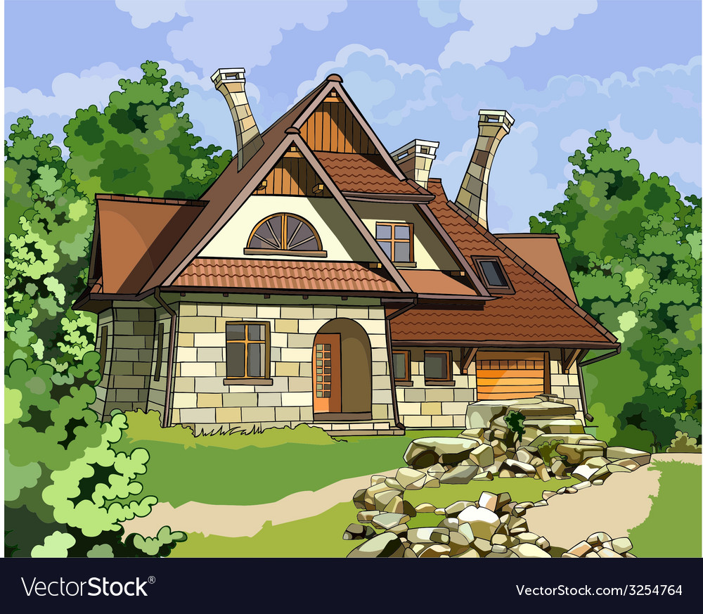 Fabulous stone house vector | Price: 3 Credit (USD $3)