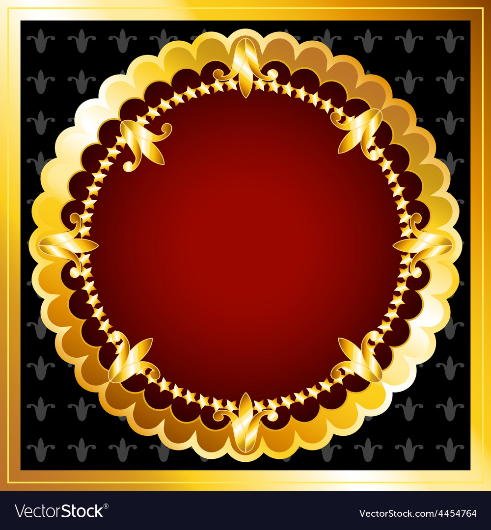 Luxurious gold frame vector | Price: 1 Credit (USD $1)