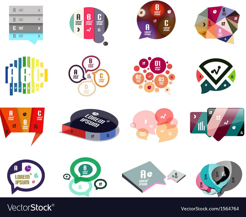 Speech bubbles modern design templates vector | Price: 1 Credit (USD $1)