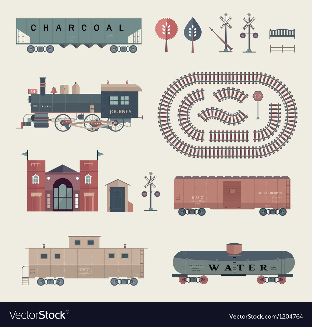 Train set vector | Price: 3 Credit (USD $3)