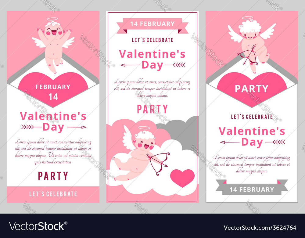 Valentines day party design templates vector | Price: 1 Credit (USD $1)