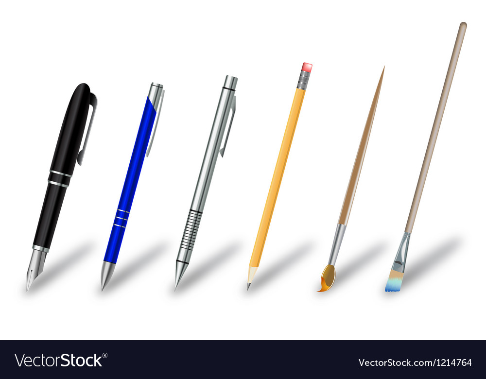 Writing and drawing equipment vector | Price: 3 Credit (USD $3)