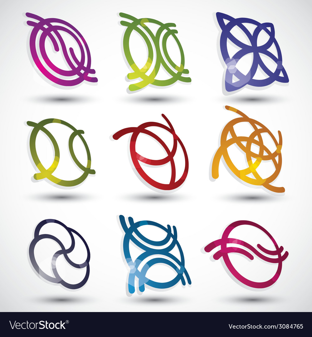 Abstract icons set vector   Price: 1 Credit (USD $1)