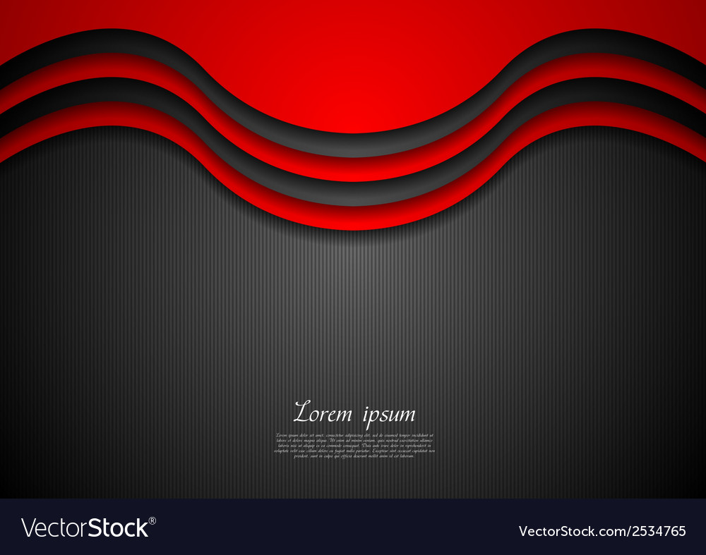 Abstract wavy corporate background vector | Price: 1 Credit (USD $1)