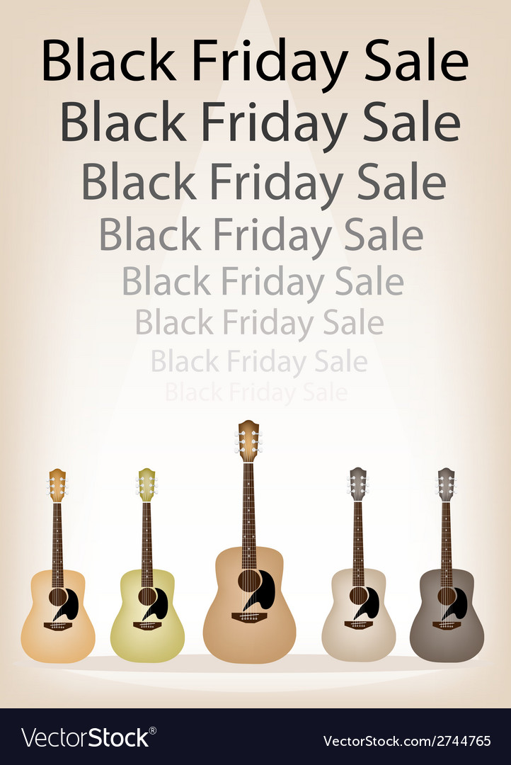 Beautiful guitars background of for black friday vector | Price: 1 Credit (USD $1)