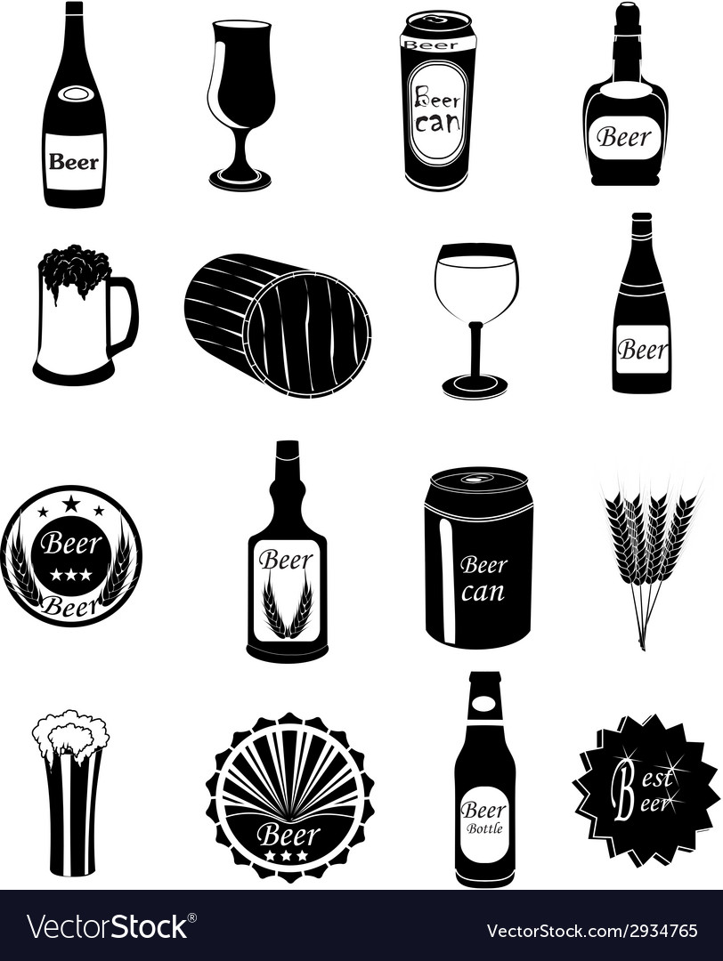 Beer icons set vector | Price: 3 Credit (USD $3)