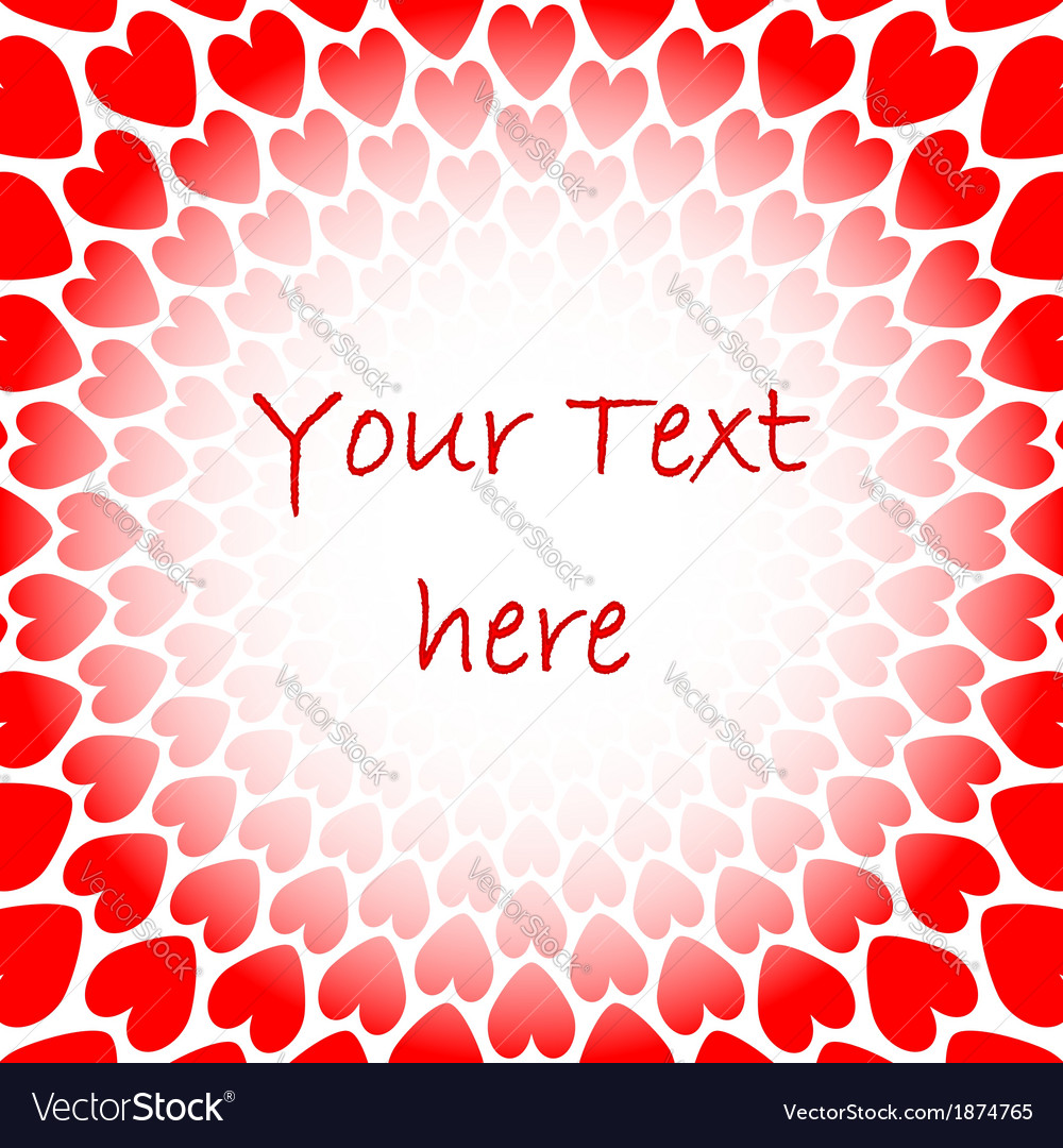 Design red heart perspective background for text vector | Price: 1 Credit (USD $1)