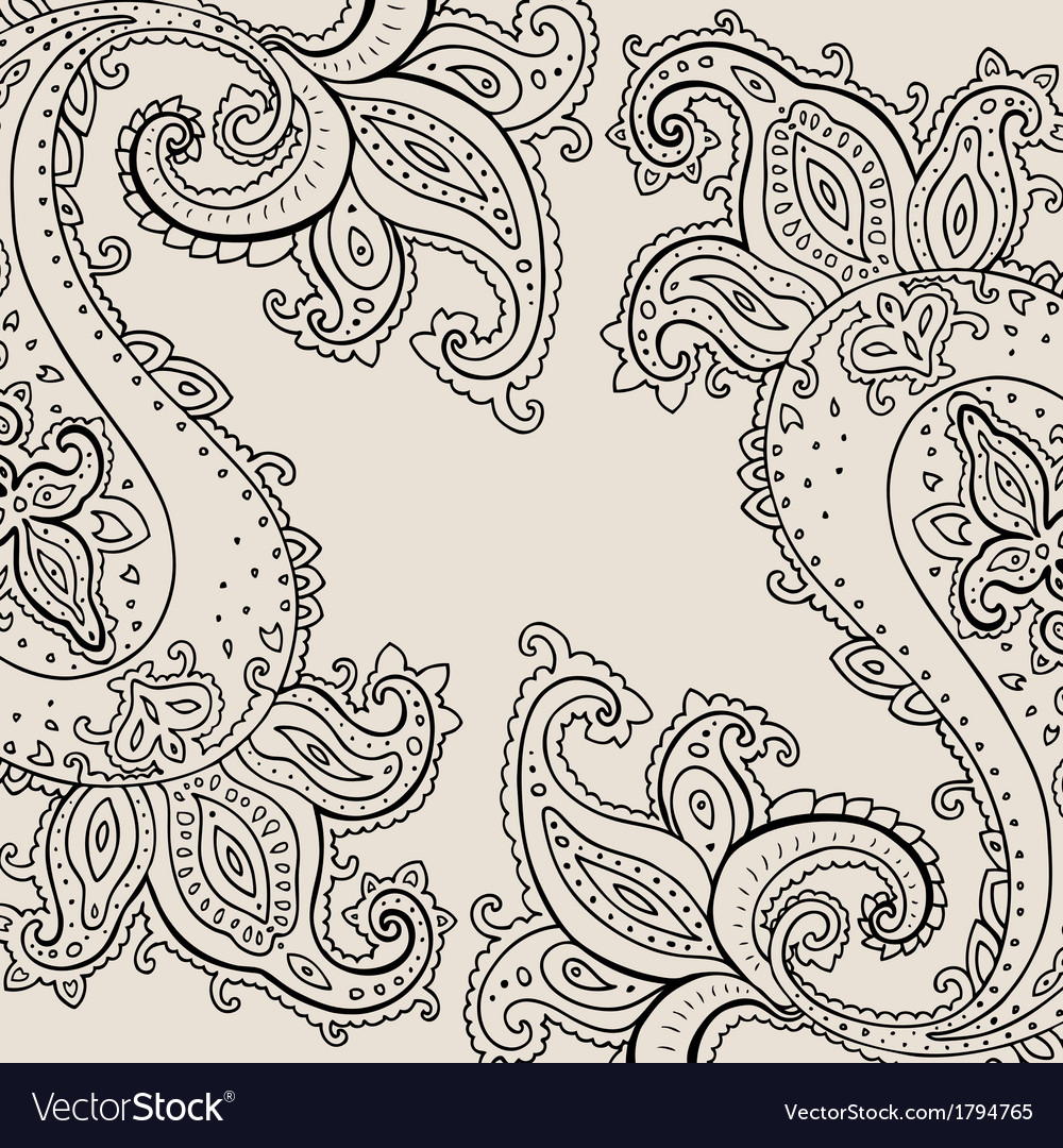 Hand drawn paisley ornament vector   Price: 1 Credit (USD $1)