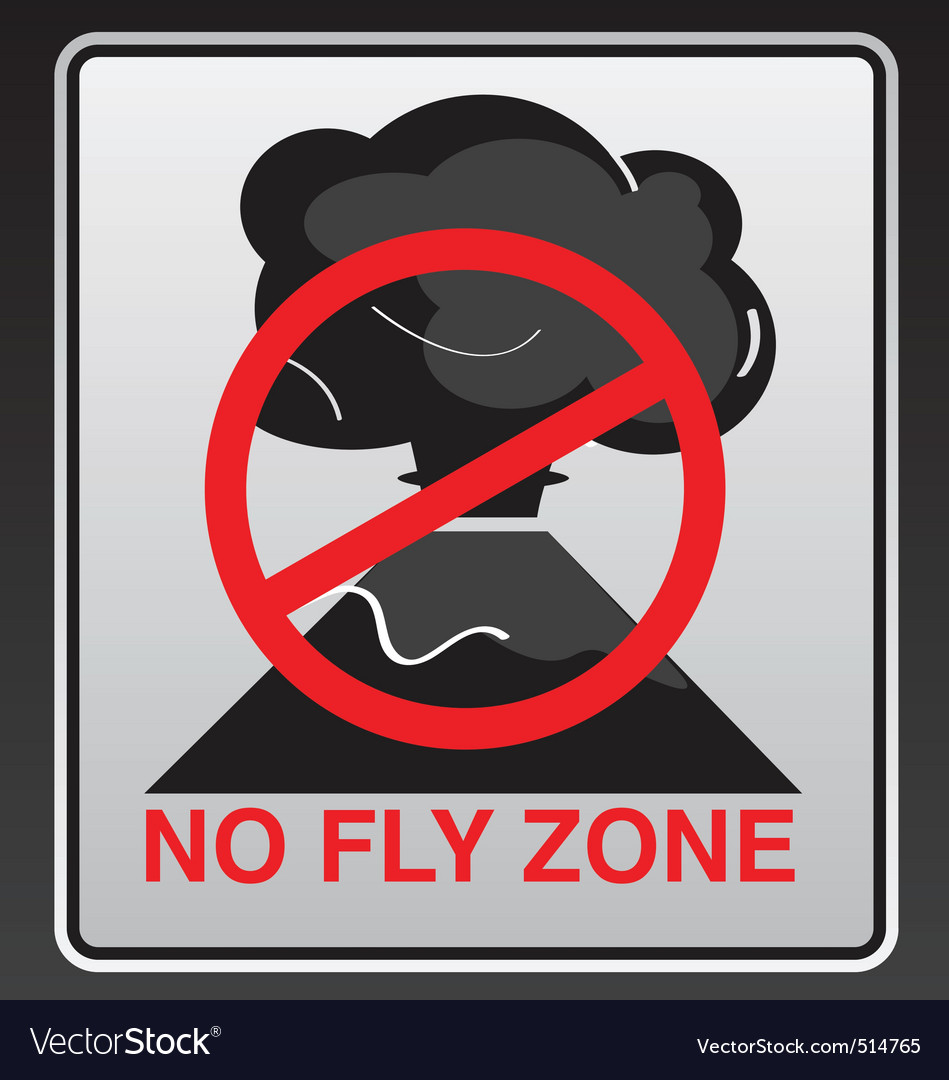 No fly zone vector | Price: 1 Credit (USD $1)