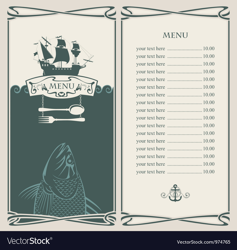 Ocean menu vector | Price: 1 Credit (USD $1)