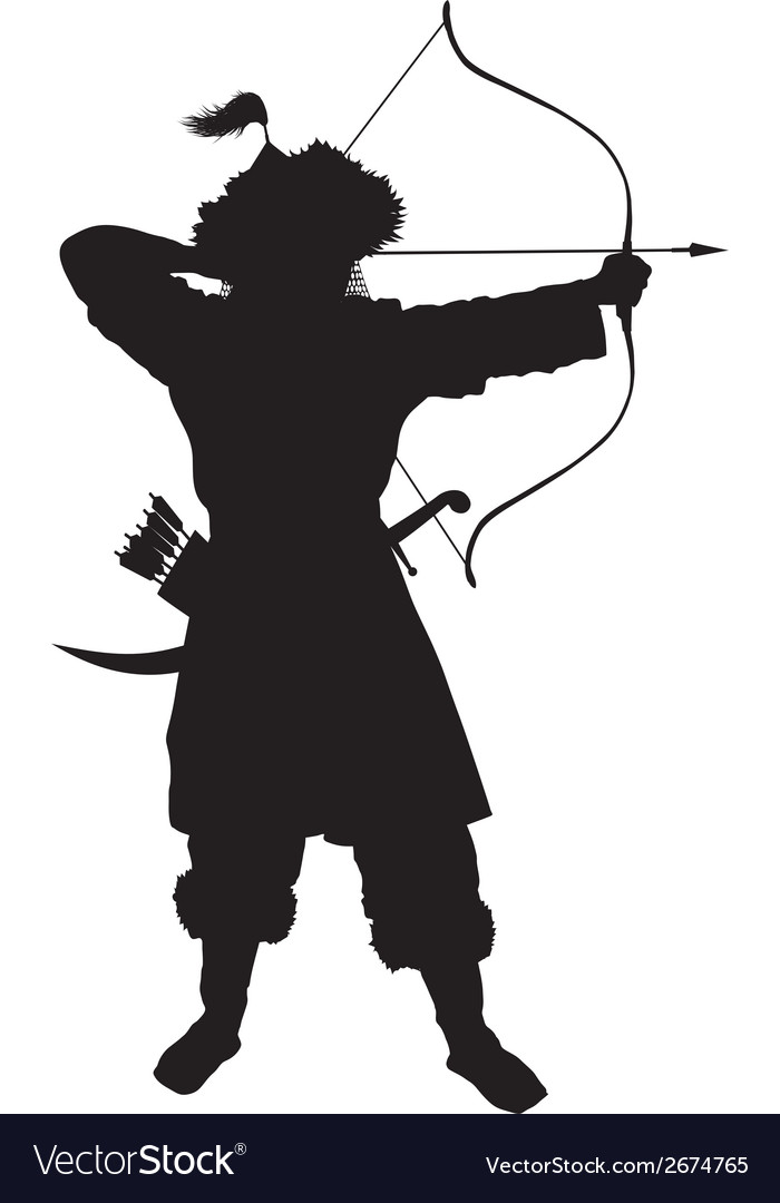 Oriental archer warriors theme vector | Price: 1 Credit (USD $1)