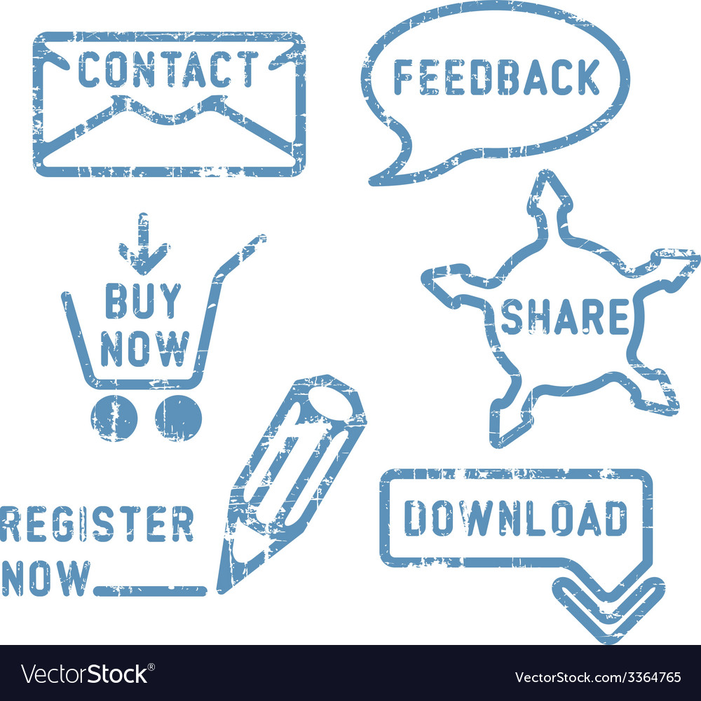 Simple contact feedback share buy download vector | Price: 1 Credit (USD $1)