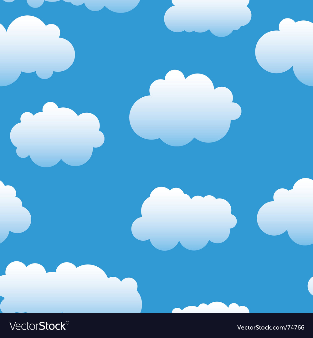 Abstract clouds background vector