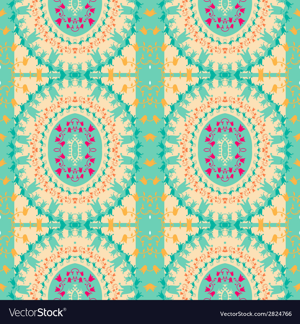 Abstract ethnic seamless fabric pattern vector | Price: 1 Credit (USD $1)