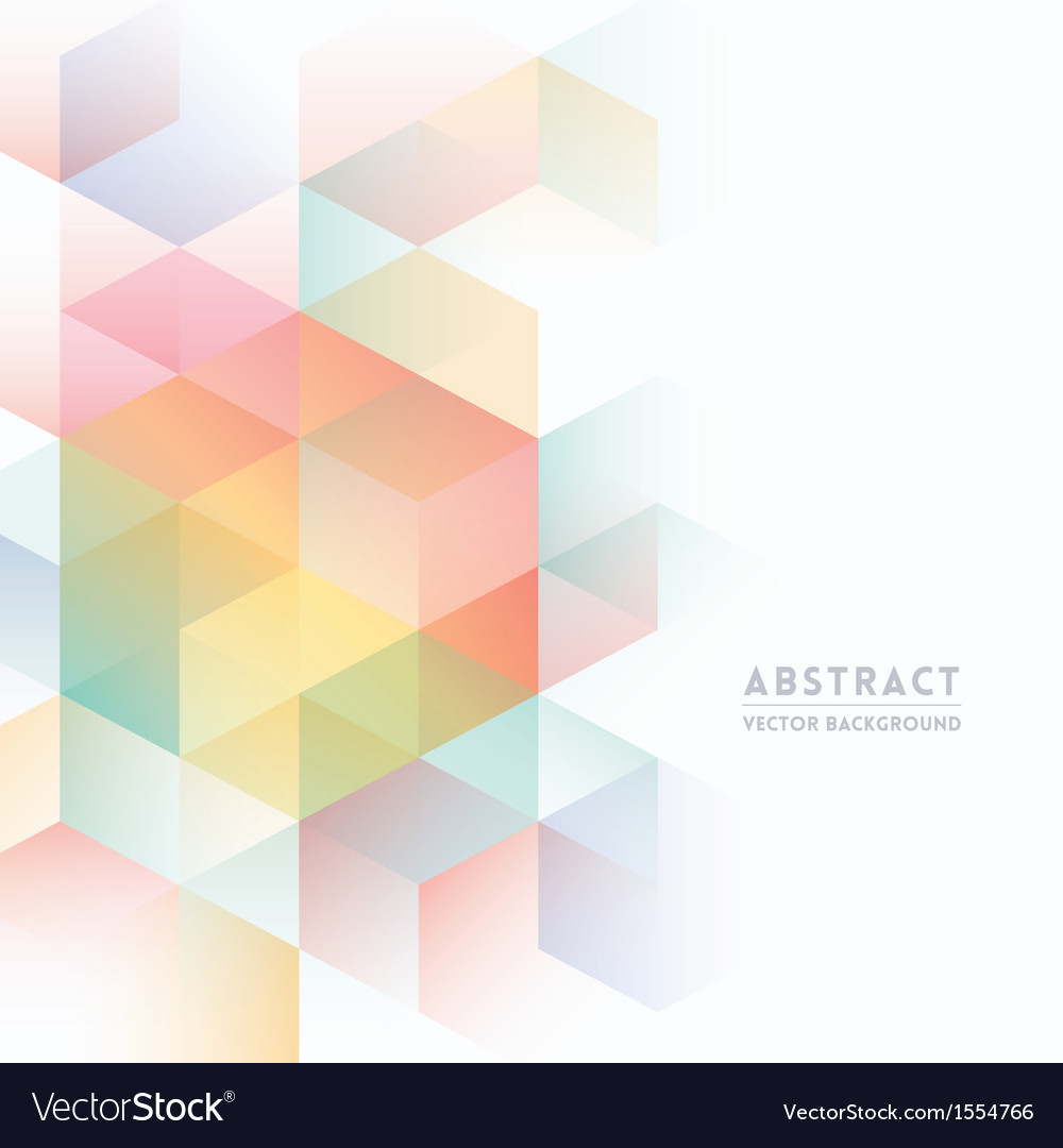 Abstract isometric shape background vector | Price: 1 Credit (USD $1)