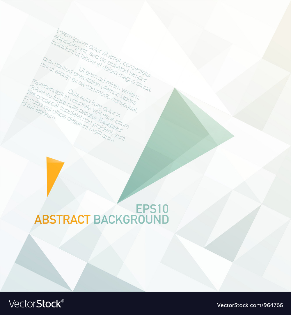 Abstract triangle shapes background vector | Price: 1 Credit (USD $1)