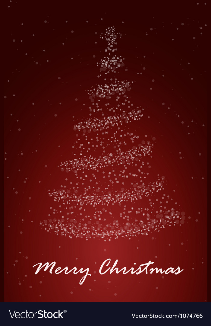 Chrismass tree red vector | Price: 1 Credit (USD $1)