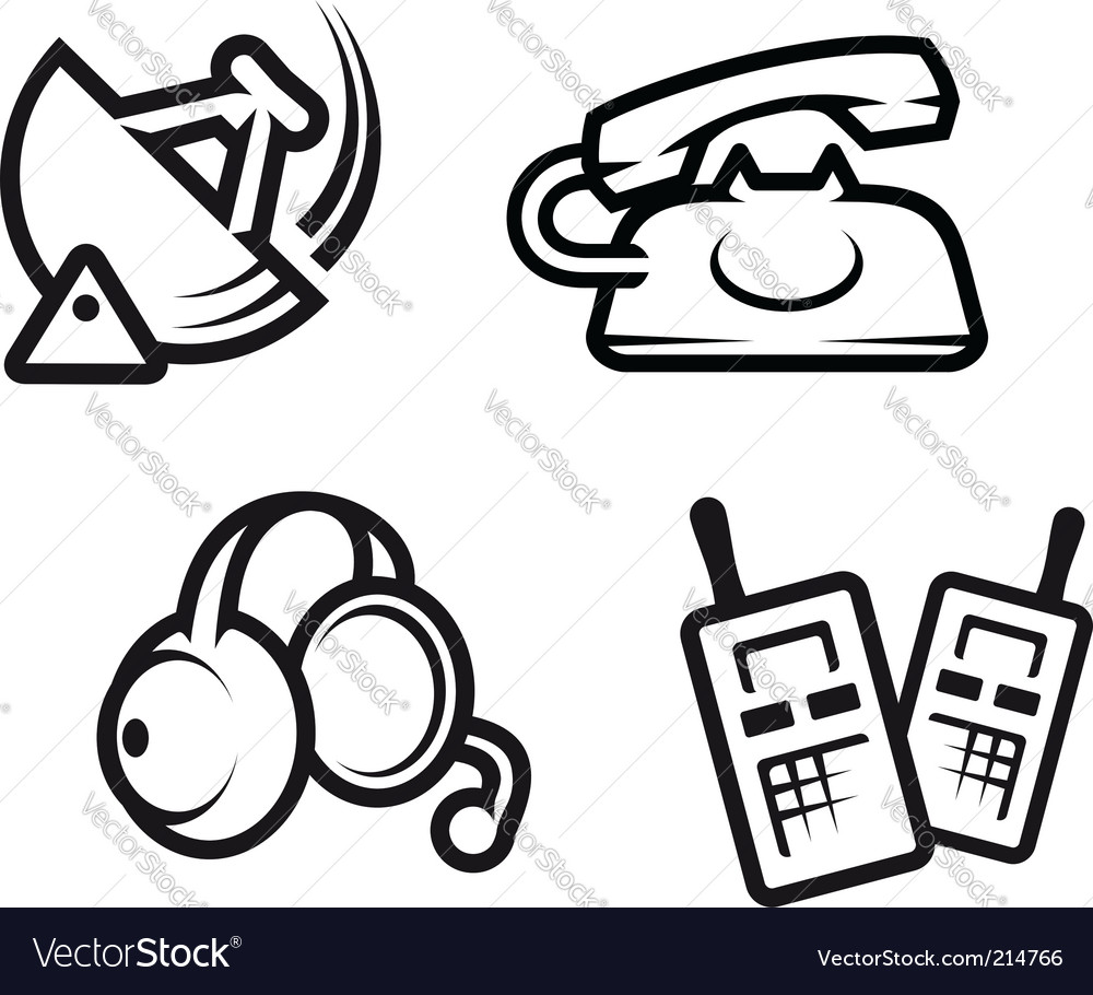 Communication symbols vector | Price: 1 Credit (USD $1)