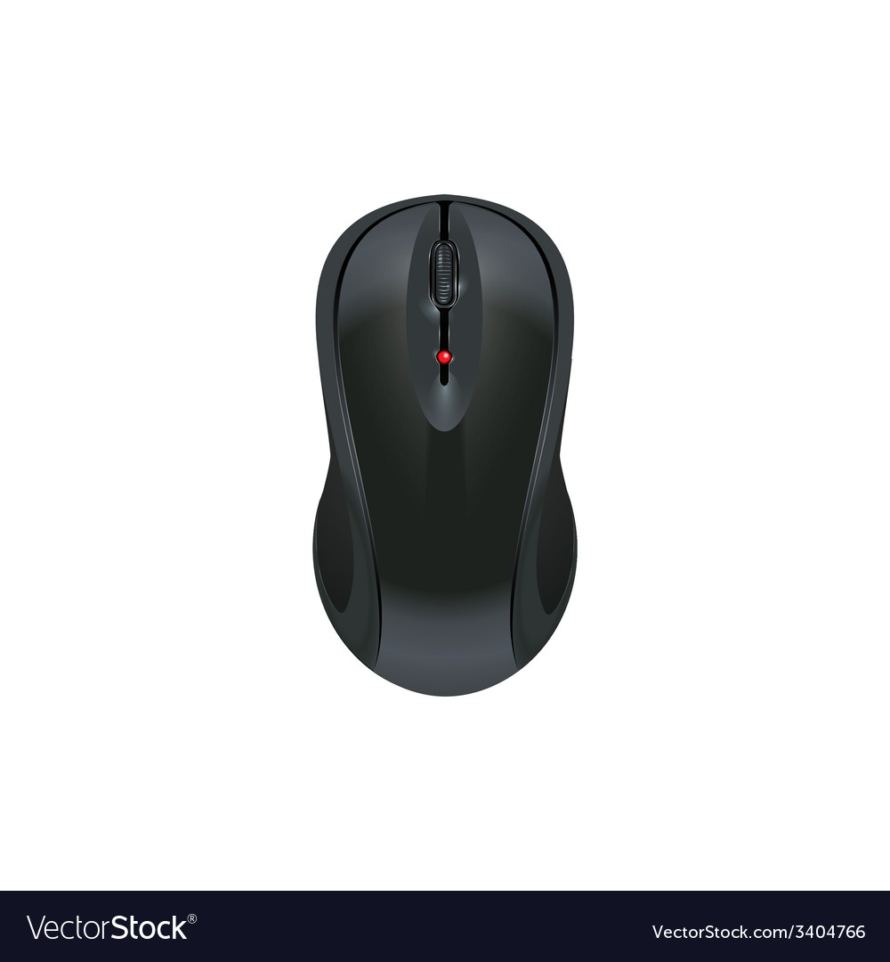Computer mouse icon wireless mouse on an isolated vector | Price: 1 Credit (USD $1)
