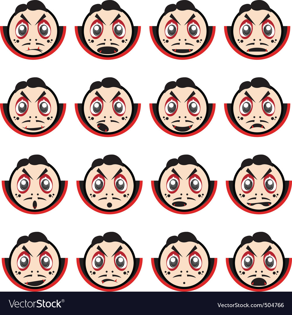 Face impressions vector | Price: 1 Credit (USD $1)