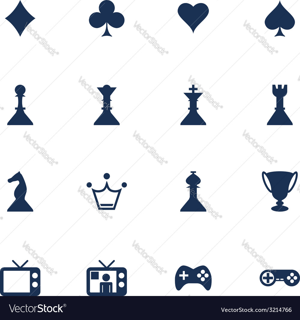 Games icons vector