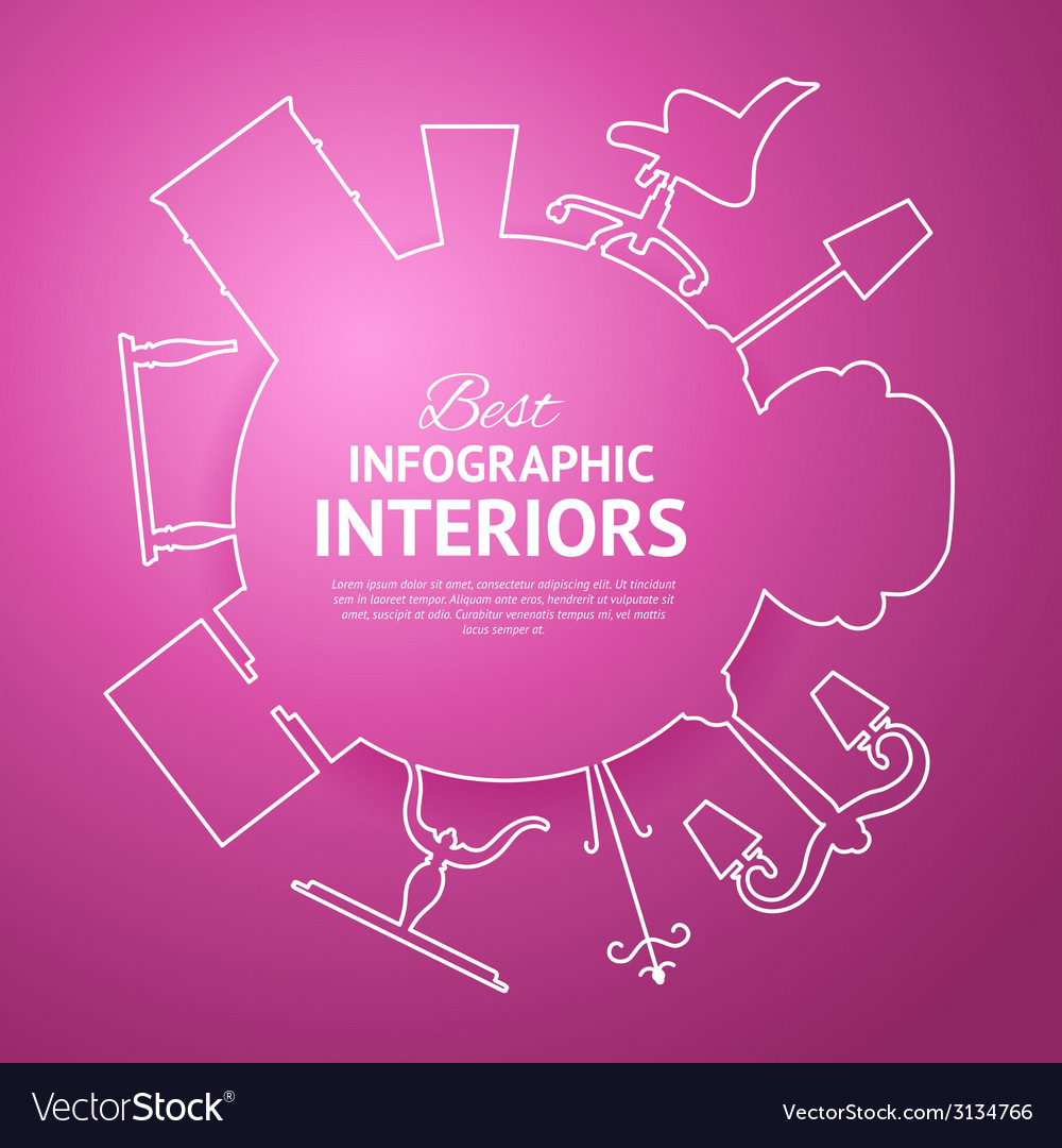 Interior circle infographics vector | Price: 1 Credit (USD $1)