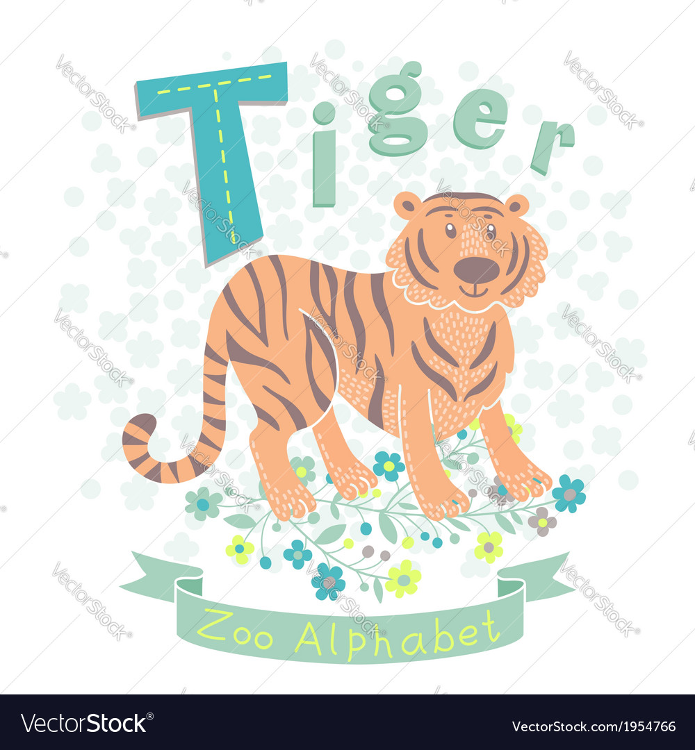 Letter t - tiger vector | Price: 1 Credit (USD $1)