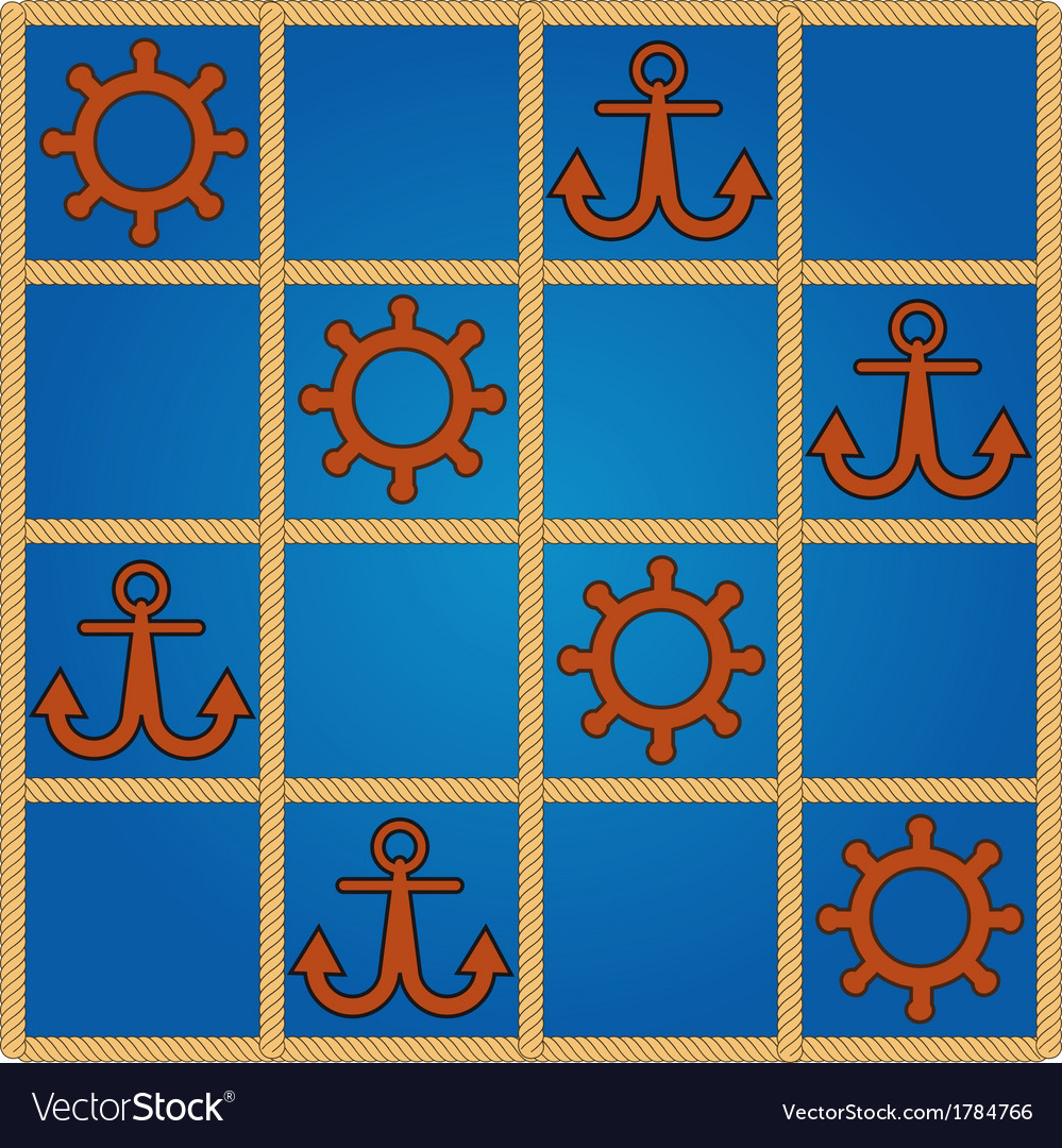 Nautical pattern vector | Price: 1 Credit (USD $1)