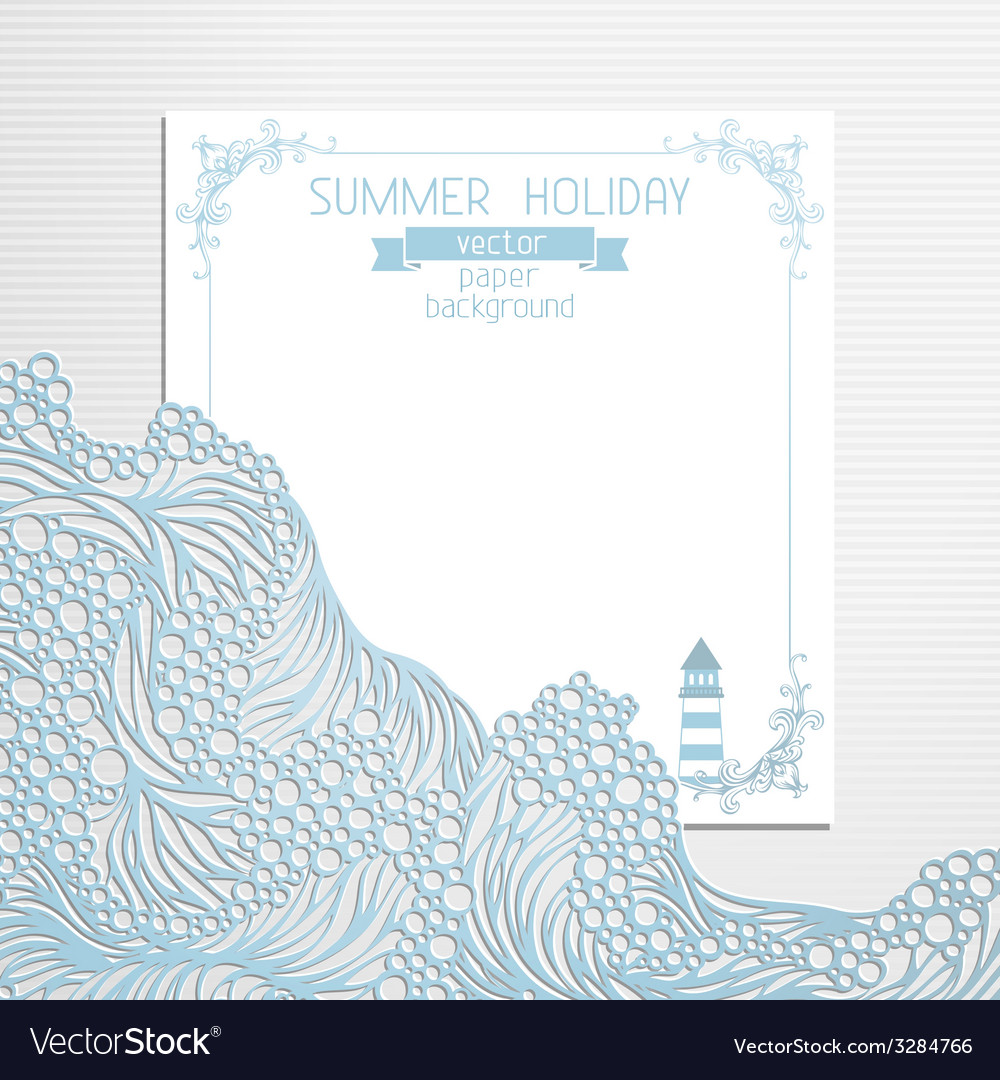 Paper summer design vector | Price: 1 Credit (USD $1)