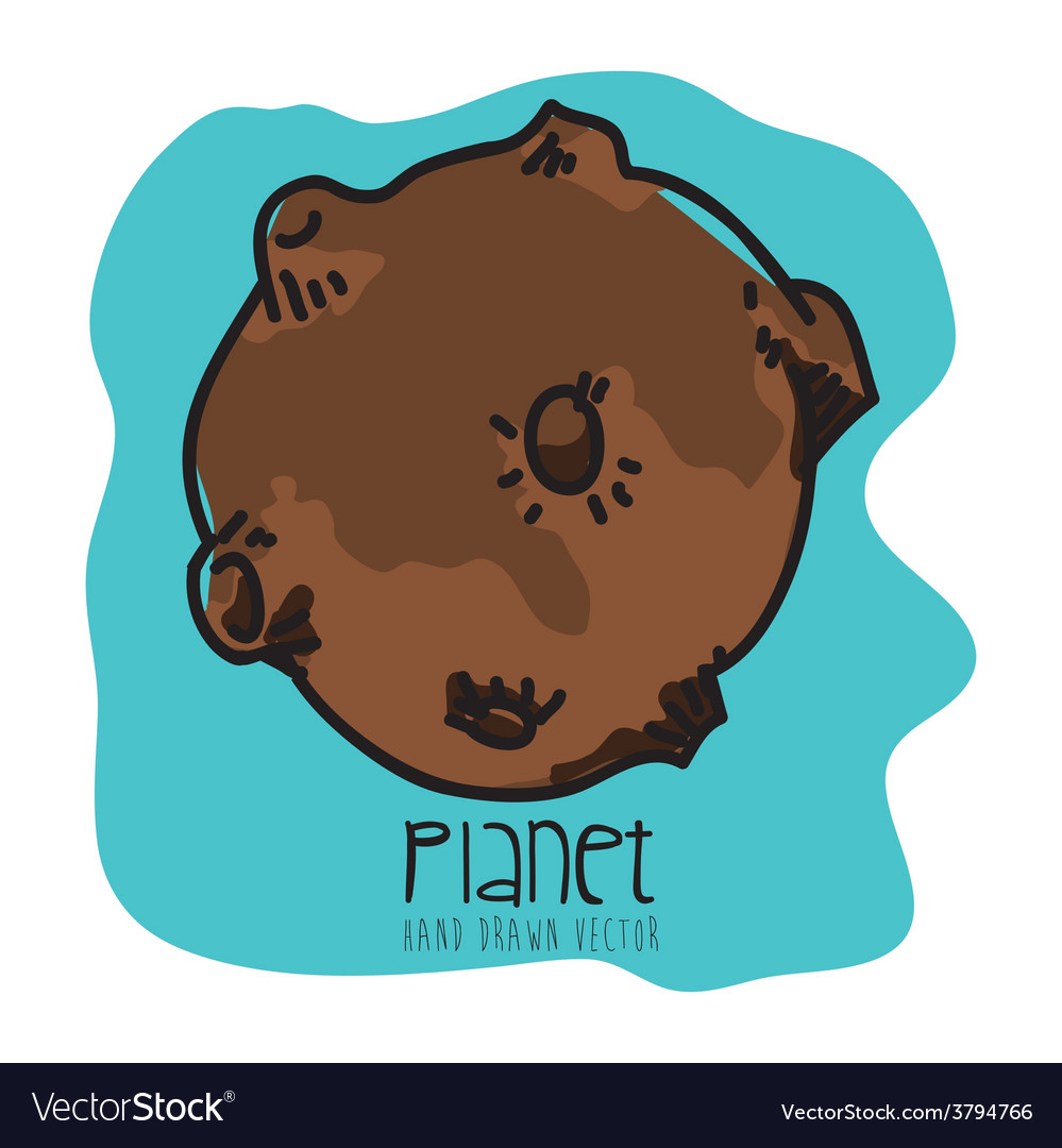 Planet drawn vector | Price: 1 Credit (USD $1)