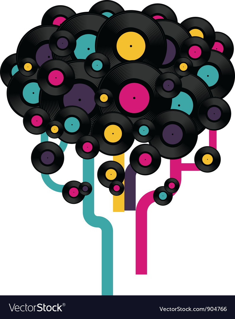 Vinyl record tree vector | Price: 1 Credit (USD $1)