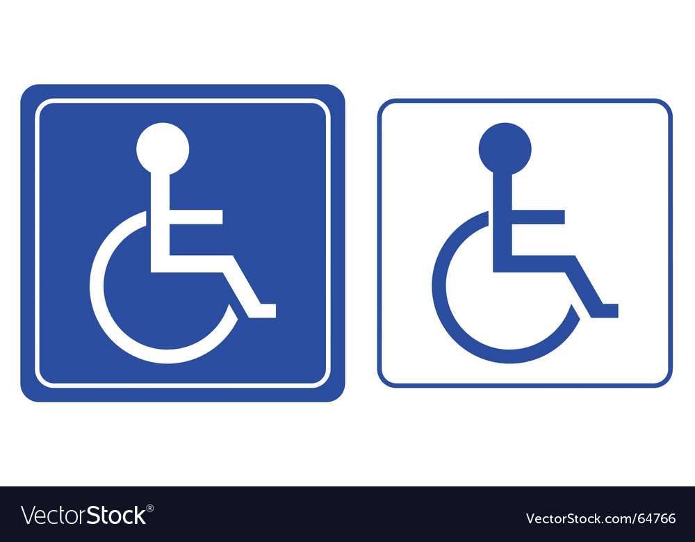 Wheelchair symbol vector | Price: 1 Credit (USD $1)