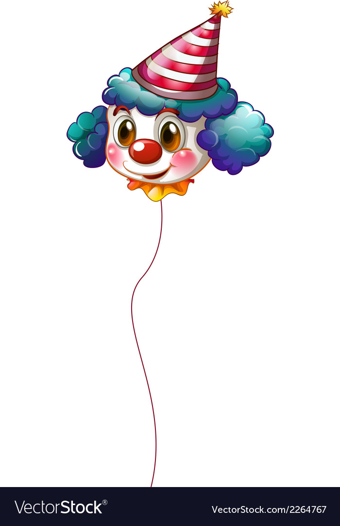 A clown balloon with a hat vector | Price: 1 Credit (USD $1)