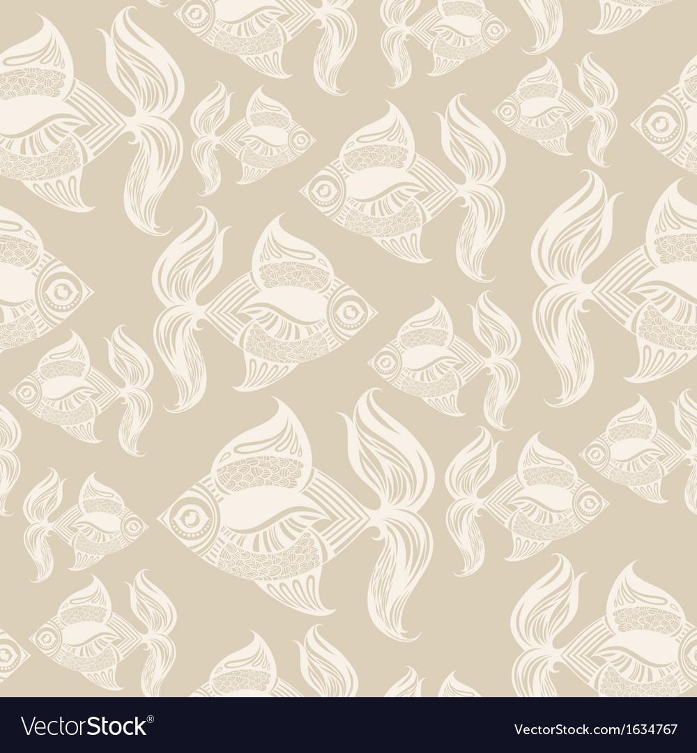 Fish pattern monochrome vector | Price: 1 Credit (USD $1)