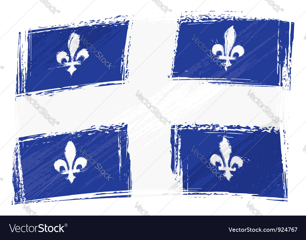 Grunge quebec flag vector | Price: 1 Credit (USD $1)