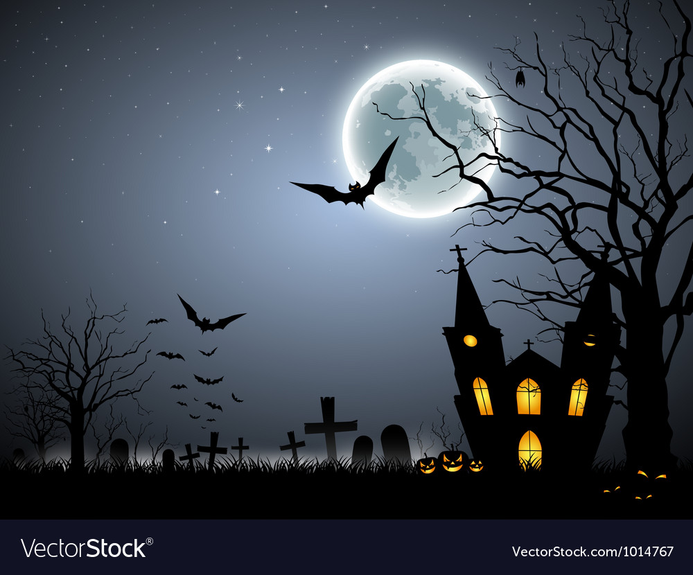 Halloween scary background vector | Price: 1 Credit (USD $1)