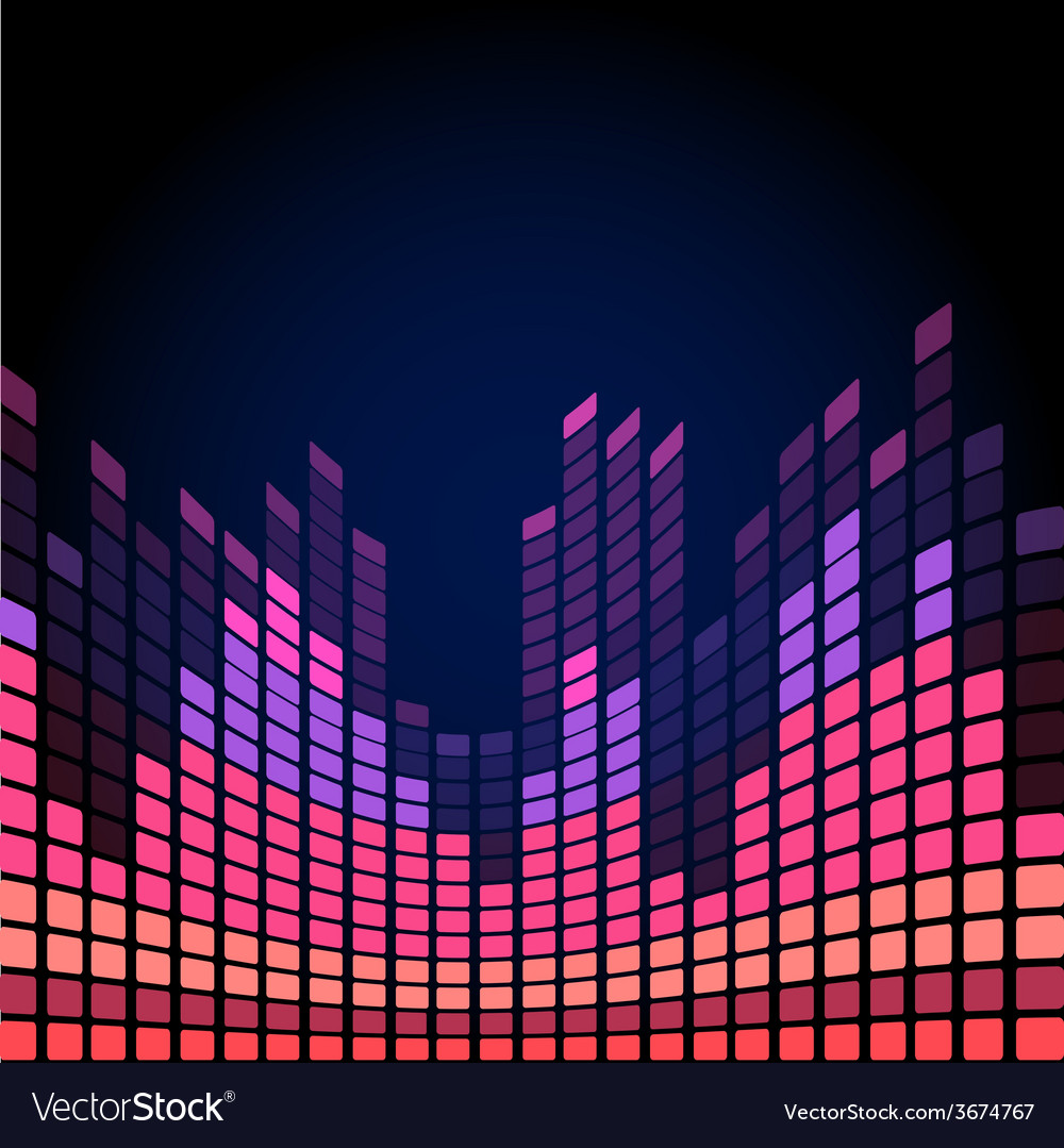 Red digital equalizer vector