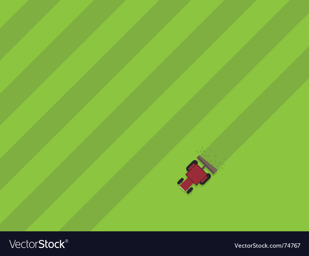 Tractor cutting grass vector